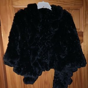 Fur Shawl Only Worn ONCE!!